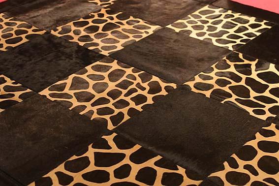 ковёр кожа и мех